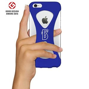iPhone6s/6 ケース Palmo x BAYSTARS 公式モデル 落下防止シリコンケース Blue|monocase-store