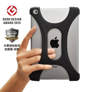 iPad mini 1/2/3/4 対応ケース 落下防止 高品質シリコン 超軽量 耐衝撃 吸収 グッドデザイン2015受賞 米軍MIL規格取得 Palmo Black|monocase-store