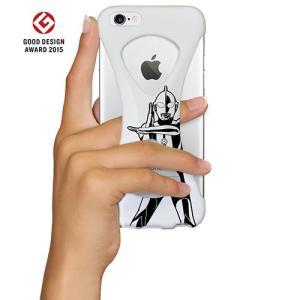 iPhone6s/6 ケース Palmo x Ultraman ウルトラマン公式モデル 落下防止シリコンケース White スペシウム ver.|monocase-store