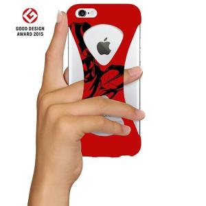 iPhone6s/6 ケース Palmo x Ultraman ウルトラマン公式モデル 落下防止シリコンケース Red オリジナル ver.|monocase-store