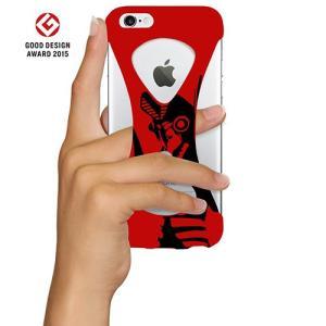 iPhone6s/6 ケース Palmo x Ultraman ウルトラマン公式モデル 落下防止シリコンケース Red バルタン ver.|monocase-store
