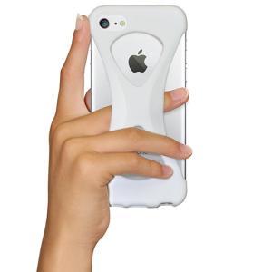 iPhone8/7 ケース アイフォン8ケース パルモ 落下防止 軽量 高品質シリコン 耐衝撃 吸収 片手操作 ポケモンGO 最適 Palmo White|monocase-store