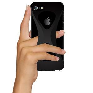 iPhone8/7 ケース アイフォン8ケース パルモ 落下防止 軽量 高品質シリコン 耐衝撃 吸収 片手操作 ポケモンGO 最適 Palmo Black|monocase-store