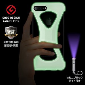 iPhone8/7 Plus ケース アイフォン8プラス Palmo 落下防止シリコンケース GiD(蛍光)|monocase-store