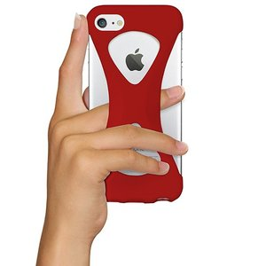 iPhone8/7 ケース アイフォン8ケース パルモ 落下防止 軽量 高品質シリコン 耐衝撃 吸収 片手操作 ポケモンGO 最適 Palmo Red|monocase-store