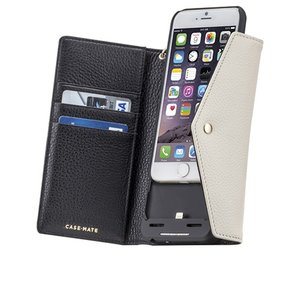 iPhone6s/6 ケース 充電できる手帳型ケース! チャージング  リストレットフォリオ ケース Black / Sand|monocase-store