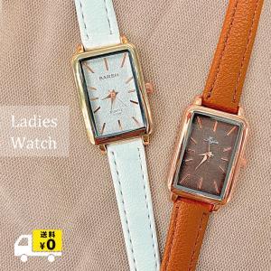 韓国風 スクエアタイプ腕時計 レディース人気 シンプル オシャレ 女性用 クウォーツ アウセサリー