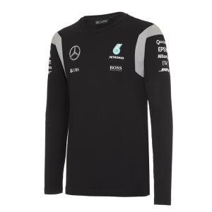 MERCEDES AMG ペトロナス F1 TEAM 2016 ロングスリーブ Tシャツ ブラック (141161009-100) monocolle