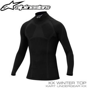 アルパインスターズ KX WINTER トップ ブラック アンダーウェア レーシングカート・走行会用 monocolle