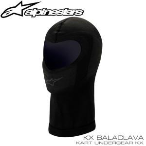 アルパインスターズ KX フェイスマスク ブラック 1ホール レーシングカート・走行会用|monocolle