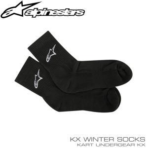 アルパインスターズ KX WINTER ソックス ブラック アンダーウェア レーシングカート・走行会用 monocolle