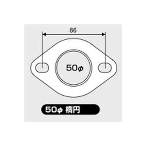 JURAN マフラーガスケット 直径50mm 楕円 1枚入り|monocolle