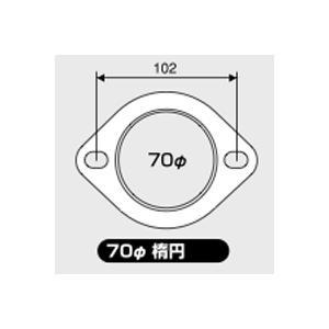JURAN マフラーガスケット 直径70mm 楕円 1枚入り|monocolle
