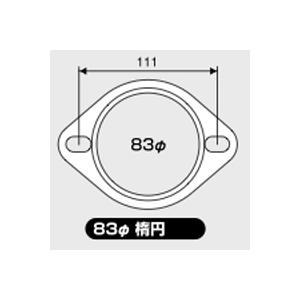 JURAN マフラーガスケット 直径83mm 楕円 1枚入り|monocolle