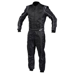 2013-14モデル アルパインスターズ K-MX9 SUIT ブラック/ホワイト レーシングスーツ レーシングカート用 CIK FIA Level2 (335600-12) monocolle
