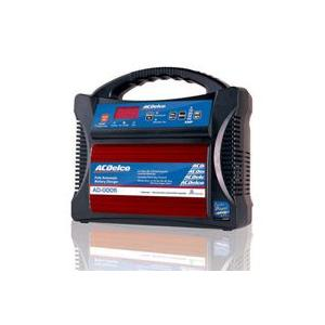 ACDelco AD-0005 12Vバッテリー専用 (マイクロプロセッサー制御) 全自動バッテリーチャージャー (エンジンスタート補助機能付)|monocolle