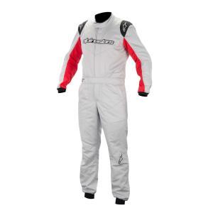 アウトレット!2014〜16モデル アルパインスターズ GP START SUIT SILVER RED 198 (ジーピー・スタート) レーシングスーツ FIA8856-2000公認モデル|monocolle
