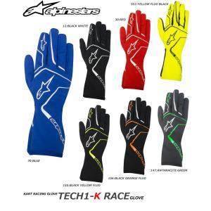 2017モデル アルパインスターズ レーシンググローブ TECH1-K RACE レーシングカート・走行会用 (3552017)|monocolle