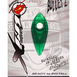 ANTMAN CUSTOM BULLETZ クリアー ヘルメットダクト GREEN(グリーン)|monocolle
