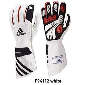 adidas(アディダス)レーシンググローブ adistar GLOVE WHITE(ホワイト)FIA8856-2000公認 (F94112) monocolle
