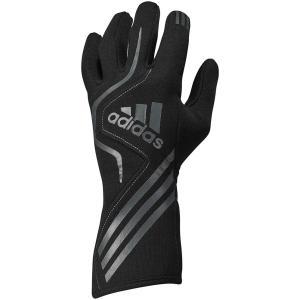 adidas(アディダス)レーシンググローブ RS GLOVES BLACK/GRAPHITE ブラック/グラファイト FIA8856-2000公認 monocolle