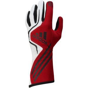 adidas(アディダス)レーシンググローブ RS GLOVES RED/WHITE/BLACK レッド/ホワイト/ブラック FIA8856-2000公認 monocolle