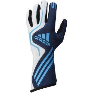adidas(アディダス)レーシンググローブ RS GLOVES NAVY/WHITE/BLUE ネイビー/ホワイト/ブルー FIA8856-2000公認 monocolle