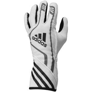 adidas(アディダス)レーシンググローブ RSR GLOVES WHITE/BLACK ホワイト/ブラック FIA8856-2000公認 monocolle
