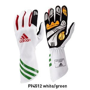 bea754a13d adidas アディダス XLT レーシンググローブ WHITE RED GREEN レーシングカート・走行会用 (F94512)