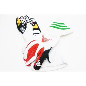 adidas アディダス XLT レーシンググローブ WHITE/RED/GREEN  レーシングカート・走行会用 (F94512)|monocolle|03