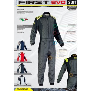 2016年モデル OMP FIRST EVO(ファーストエボ) レーシングスーツ NAVY Blue/Silver(ネイビー ブルーシルバー) FIA8856-2000公認|monocolle|04
