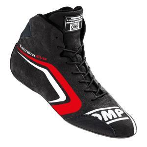 [注文予約]OMP TECNICA EVO SHOES MY2018(テクニカ エボ)BLACK/RED(ブラック/レッド)レーシングシューズ FIA8856-2000公認|monocolle
