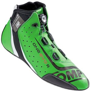 OMP レーシングシューズ ONE EVO FORMULA R SHOES Fluo green/black/white(蛍光グリーン) FIA公認8856-2000 本国取り寄せ品|monocolle