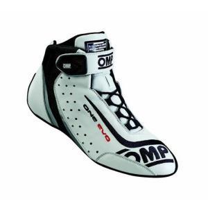OMP レーシングシューズ ONE EVO SHOES WHITE(ホワイト) FIA公認8856-2000 本国取り寄せ品|monocolle