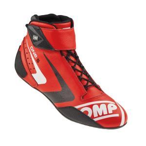 2016 OMPレーシングシューズ ONE S SHOES RED (レッド) ミドルカット FIA公認8856-2000|monocolle