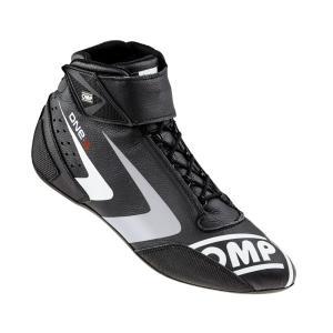 2016 OMPレーシングシューズ ONE S SHOES BLACK (ブラック) ミドルカット FIA公認8856-2000|monocolle