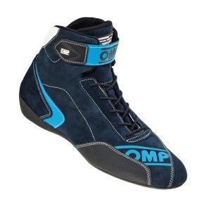 2016 OMPレーシングシューズ FIRST EVO(ファーストエボ) SHOES BLUE CYAN (ブルー シアン) ミドルカット FIA公認8856-2000|monocolle