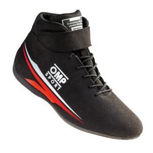 [注文予約]OMP SPORT SHOES MY2018(スポーツ)BLACK(ブラック)レーシングシューズ FIA8856-2000公認|monocolle