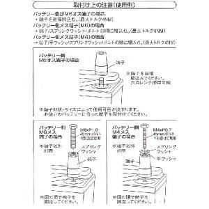 JURAN バッテリーターミナル端子 Dセット/DIN規格 プラス & マイナスセット(338792)|monocolle|03