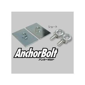 JURAN シートベルト固定用 アンカーボルト(ストレスプレート付き ) ショートタイプ 1ペア(2本入り)|monocolle