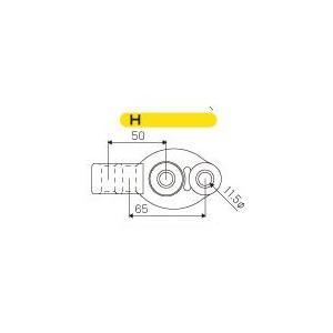 JURAN マフラーリング Hタイプ ブラック 1ヶ入り|monocolle
