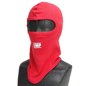 OMP フェイスマスク ニットタイプ 1ホール レッド カート・走行会用|monocolle