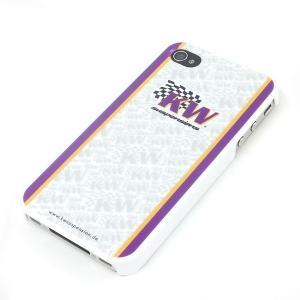 KW (カーヴェー) iPhone4・4S 専用ハードカバー ホワイト/パープル|monocolle