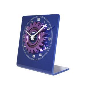 F1 ギヤ クロック ブルー/パープル (置き時計)F1リサイクルパーツ|monocolle