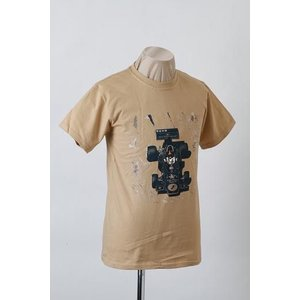 チームロータス TEMA LOTUS タイプ72 Tシャツ ベージュ (LOT-T72−TS)|monocolle