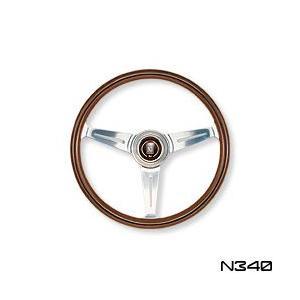 NARDI ナルディ ステアリング CLASSIC ウッド&ポリッシュスポーク 340mm (N340)|monocolle