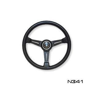 NARDI ナルディ ステアリング CLASSIC ブラックレザー&ブラックスポーク 340mm (N341)|monocolle