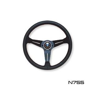 NARDI ナルディ ステアリング CLASSIC SPORTS TYPE ラリー パンチングレザー&ディープコーンタイプ 350mm (N755)|monocolle