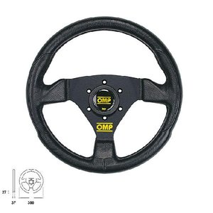 OMP TRECENTO UNO TUNING STEERING WHEELS ポリウレタン ステアリング 350mm OD/1989/NN|monocolle