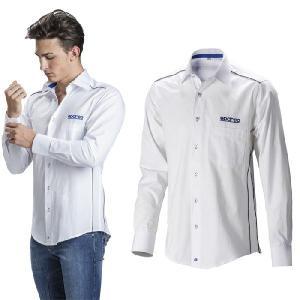 SPARCO スパルコ ロングスリーブ シャツ ホワイト チームウェア (011773BI)|monocolle